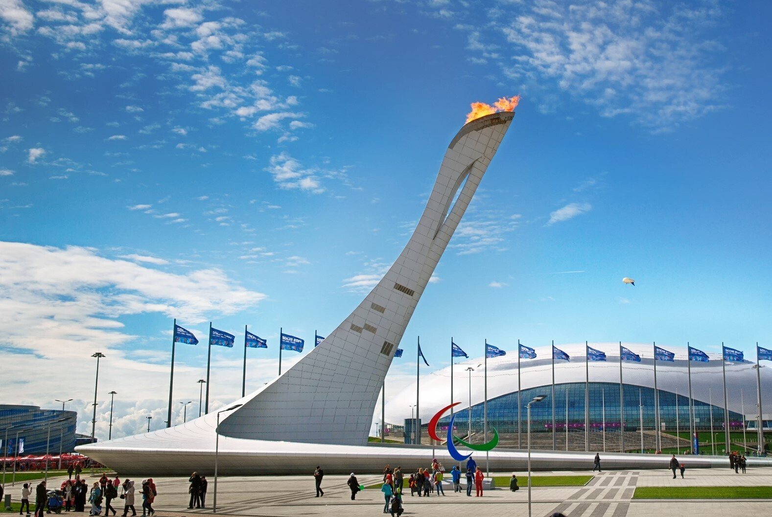 Olympic torch in Sochi